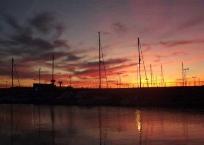 Coucher-de-soleil-dans-la-marina-de-Barbate-Espagne-face-a-Tanger-23-milles