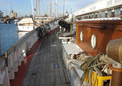 Le vieux gréement Notre Dame des Flots, à quai à La Rochelle