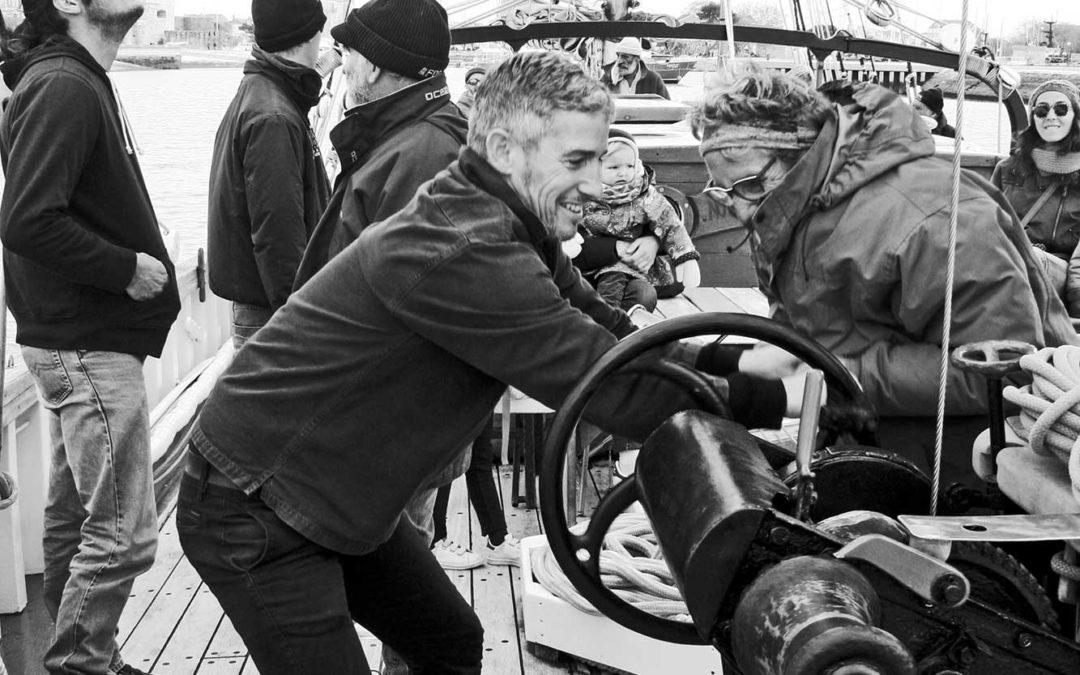 Première sortie du Notre Dame des Flots pour tester les voiles, le 14 avril 2019